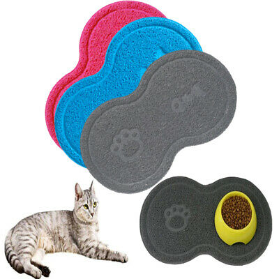 Pet Dog Puppy Cat Feeding Mat Pad Cute PVC Bed Dish Bowl Food Feed Placemat • 4.95£