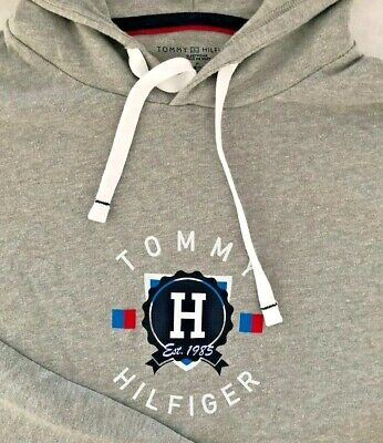 $32.50 • Buy Tommy Hilfiger Pullover Long Sleeve Hoodie Men's Women's New Blue Grey White