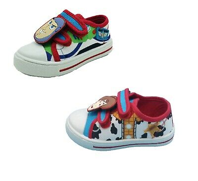 £12.99 • Buy Boys Kids Toy Story Woody Buzz Canvas Pumps Trainers Summer Shoes Size 6-12