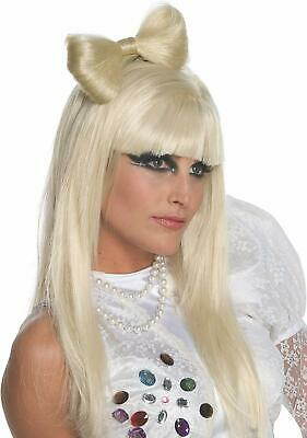 Lady Gaga Style Blonde Bow Faux Hair Clip 80s 90s Fancy Dress Party Accessory • 9.99£