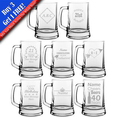 Personalised Engraved Novelty Beer Mug, Different Designs  Any Occasion • 8.95£