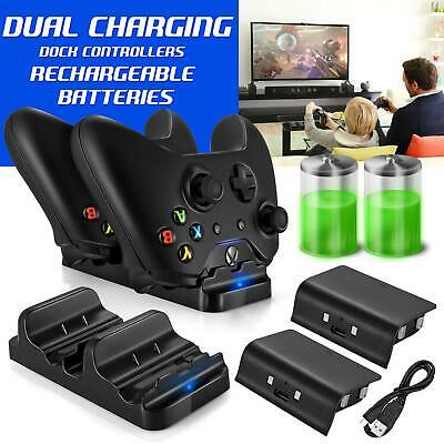 $10.99 • Buy Xbox One Dual Charging Dock Station Controller Charger & 2 Extra Battery Packs