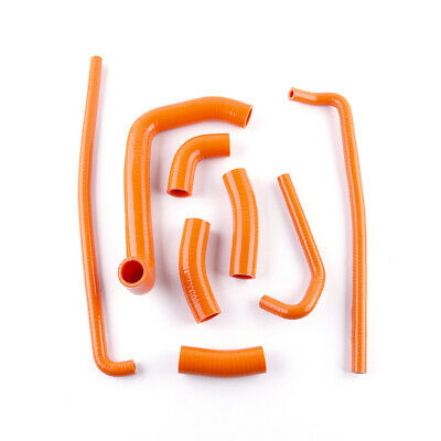 $59.99 • Buy For KAWASAKI Ninja ZX7R 1996-2003 97 98 99 Silicone Radiator Hose Kit Orange