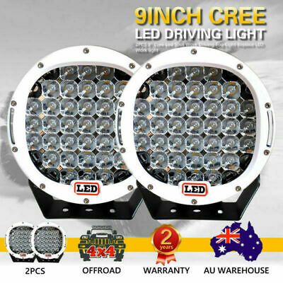 AU148.75 • Buy 9 Inch Cree LED Spot Work Driving Lights OFFROAD White Lights 99999W Spot Beam