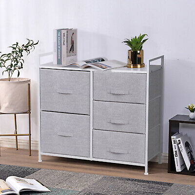 Chest Of Drawers Cabinet Side Table Organiser Home Hallway Storage Units Fabric • 43.90£