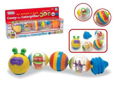 Casey The Caterpillar Baby Toddler Snap Link Together Balls Activity Toy Gift • 9.99£