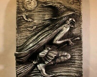 £14.75 • Buy Summerisle   Flying Witch  Wall Plaque  Silver Witch/ Pagan / Wiccan 16 Cms