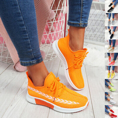 $ CDN22.92 • Buy Womens Ladies Lace Up Mesh Trainers Gym Running Sneakers Women Party Shoes Size