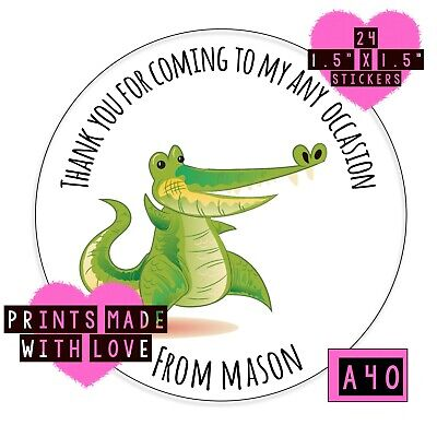 £1.70 • Buy Crocodile Party Bag Stickers  Baby Shower , Christening Teacher Personalised A40