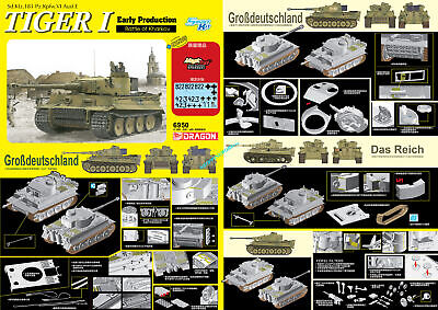 Dragon 6950 1/35 Scale TIGER I Early Production Battle Of Kharkow 2020 New • 59.99£