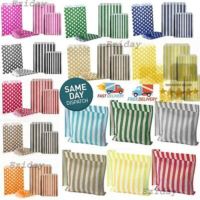 £1.70 • Buy CANDY STRIPE SWEET BAGS 100 50 25 Paper Confectionery Bag Party Favor Wedding UK