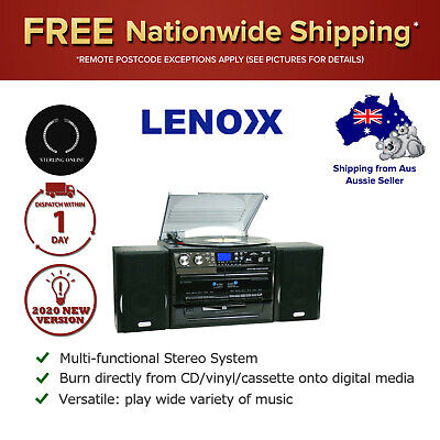 AU258.61 • Buy Stereo System Turntable Vinyl Record Player W/ Dual Cassette Recorder CD MP3 USB