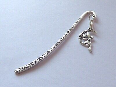 £1.99 • Buy Antique Silver Fairy Tinkerbell Swirls Bookmark Gift Birthday Party Bag Fillers
