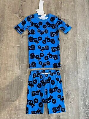 $19.99 • Buy New Boys Hanna Andersson Pajamas PJs Children's Motorcycles Blue US 6-7
