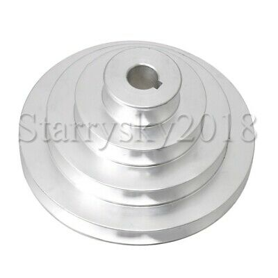 AU18.60 • Buy Aluminum 16mm Bore Dia V-Type 4 Step Timing Belt Pulley For Motor Shaft Drive
