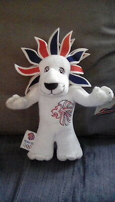 London 2012 Pride Lion Olympic Mascot Plush With Tags. • 4£