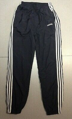 $ CDN39.99 • Buy Vtg 90s Lined Adidas Pants Black White Nylon 3 Stripe Windbreaker Track  Size S