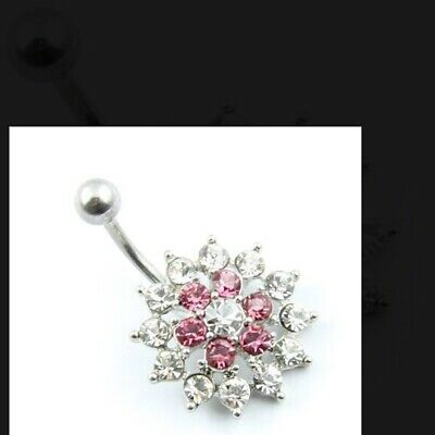 £2.29 • Buy Navel Style Belly Bars Button Surgical Steel Jewellery Uk Seller Fast Dispatch