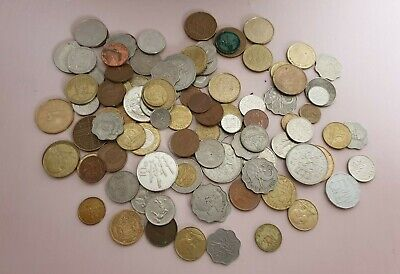 JOB Mixed LOT Of 100 COINS - OLD, BRITISH & FOREIGN • 7.99£