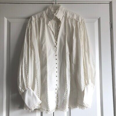 $557.21 • Buy Zimmermann Smock Lace Blouse Creamy White - Sz 1 - Worn Once* Great Condition