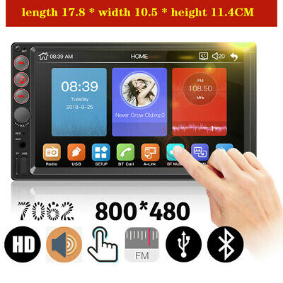 $63.27 • Buy 7 Touch Screen Multimedia Player BT FM Universal Car Radio Stereo Audio Parts