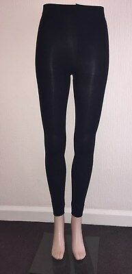 £3.49 • Buy  Footless Tights Opaque 100D & Fleece In Black Size S/M And M/L **UK STOCK **