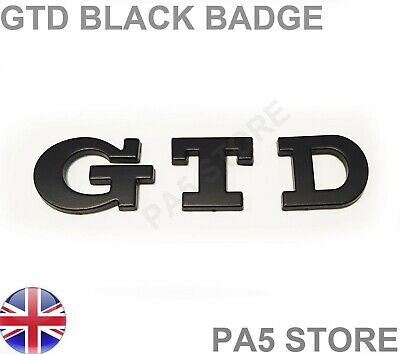 Gtd Badge Matte Black  - Turbo Diesel Car Van  Boot Golf - Uk Fast Post • 7.99£