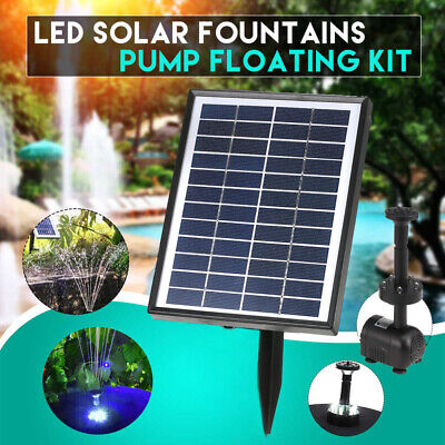 Garden Solar Fountain Pump Water Pond Pool Battery Outdoor Submersible 200L/H • 19.99£