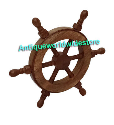 Nautical Pirate Wooden Ship Wheel Decorative Gift • 22£