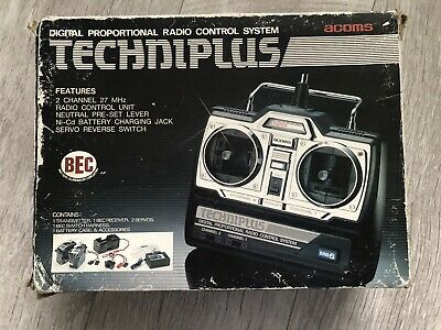 Acoms Techniplus AP-27 2 Channel Radio Control Transmitter 27MHz Good Condition • 39£