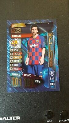 £3.49 • Buy MATCH ATTAX 19/20 Champions League  100 Hundred / 100 Club Lionel Messi Card New