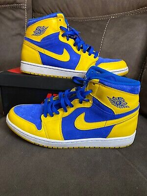 $149 • Buy Nike Jordan 1 Mens Size 13 Retro High OG Laney 555088-707 Maize Royal White