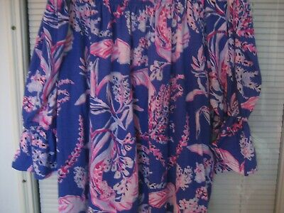 $70 • Buy NWOT Lilly Pulitzer Channing Top (off The Shoulders) Wild Within Size Large