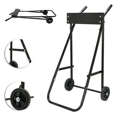AU113.67 • Buy DIY Outboard Engine Trolley Stand 85kg Carrier Cart Autoboard Motor Boat Carrier