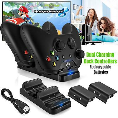 $10.89 • Buy Xbox One Dual Charging Dock Station Controller Charger + 2 Extra Battery Packs