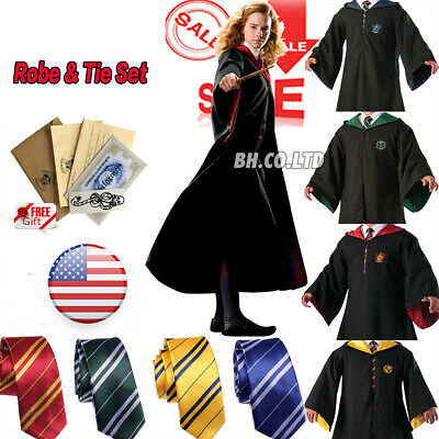 $24.39 • Buy Harry Potter Hogwarts Adult Child Robe Cloak Scarf Halloween COS Costumes