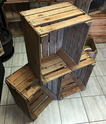 6 X  SUPER CLEARANCE - Wooden Apple Crates Fruit Box - Free Fast Delivery  • 39.99£