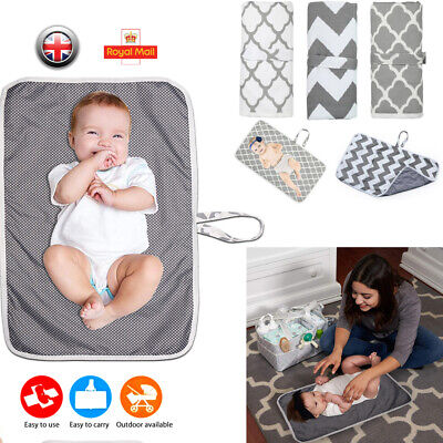 View Details Portable Foldable Washable Baby Waterproof Travel Nappy Diaper Changing Mat Pad • 4.51£