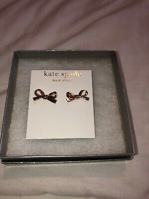 $ CDN34.86 • Buy Kate Spade INSPIRE Rose Gold Plated SKINNY Bow Stud Earrings *NWT