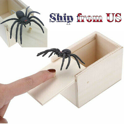 $8.99 • Buy April Fool's Day Rubber Fake Spider Gift Box Toy Scare Joke Trick Prank Party