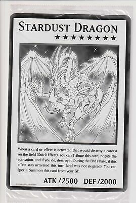 Yugioh Stardust Dragon Oversized Card Duel Overload (Common) • 2.33£