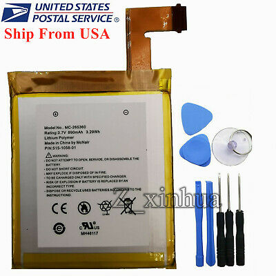 $14.80 • Buy New OEM Battery MC-265360 For Amazon Kindle 4 5 6 D01100 P/N: 515-1058-01 &TOOL