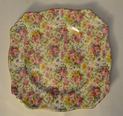 $ CDN49.29 • Buy VINTAGE ROYAL WINTON  SUMMERTIME (GOLD TRIM) ASCOT 9.3/4   Square DINNER PLATE