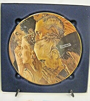 $ CDN15.57 • Buy Limited Edition Norman Rockwell's  Freedom Of Worship  Collector Plate-NEW*