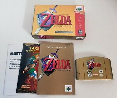$245 • Buy Legend Of Zelda Ocarina Of Time Gold Collector's Edition AUTHENTIC N64 COMPLETE