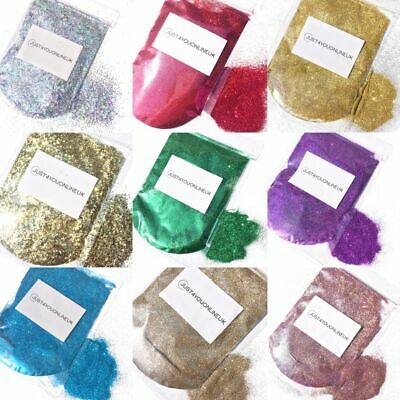 Glitter 100g Chunky Fine Wine Glass Craft Holographic Iridescent Nail Art Paint • 3.99£