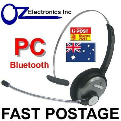 Bluetooth Headset Handsfree For Use With Skype MS Teams WebEx Zoom Australia PC • 24.43£