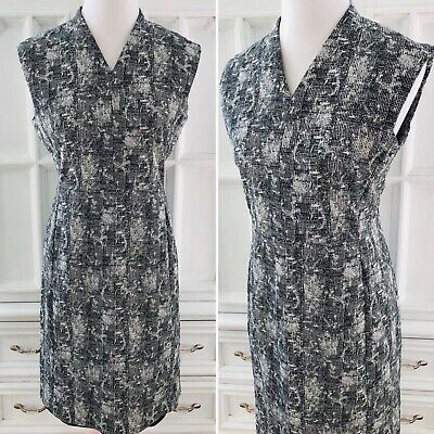 $ CDN93.30 • Buy MM Lafleur Aditi Crackle Dress Sz 12 Sheath Black Almond Women *see Lining Hem*