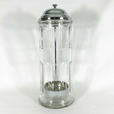 $14.95 • Buy Straw Holder Dispenser Tablecraft Table Craft Glass & Metal Up To 8 1/4  Straws