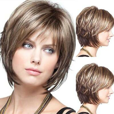 £12.49 • Buy UK Womens Real Natural Short Straight Bob Style Hair Wigs Ombre Cosplay Full Wig